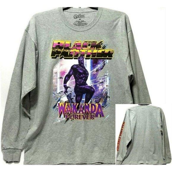 Marvel Black Panther Wakanda Forever L/S T-Shirt